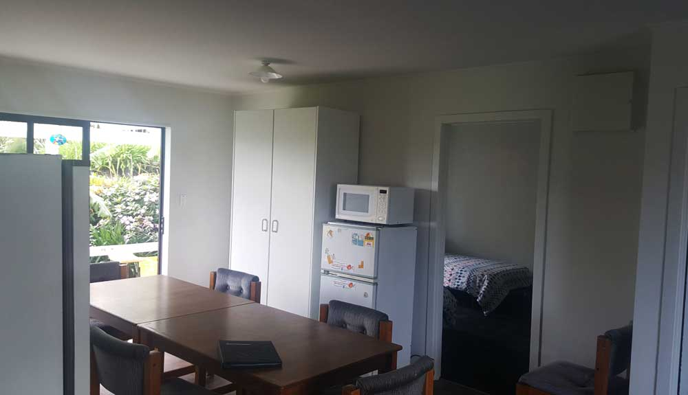 Kitchen and dining area in motel unit 11