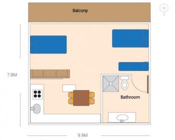 Travellers Unit Room Floor Plan